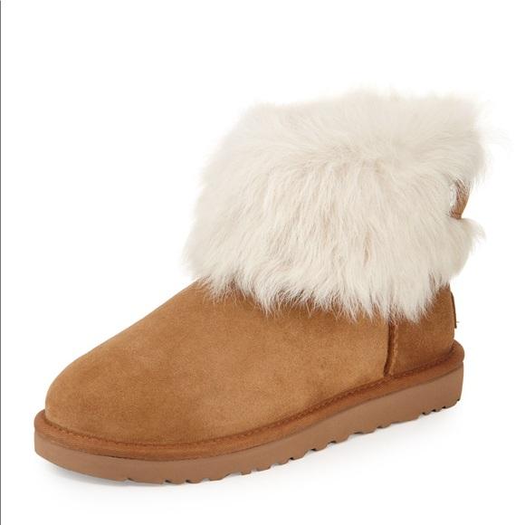 0fa22763f19 UGG Valentina Chestnut Suede Shearling Fur Boot